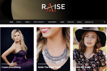 Raise Mag – Modern WordPress Blog Theme for Free