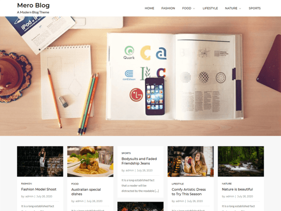 Mero Blog - blog website WordPress theme