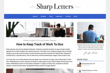 Sharp Letters – A Responsive WordPress Blog Theme for Free
