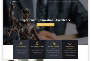 Whisper – Legal Website HTML Template (Free Download)