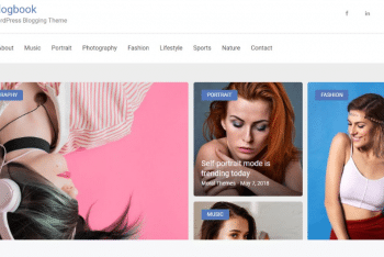Blogbook – A Free WordPress Blogging Theme