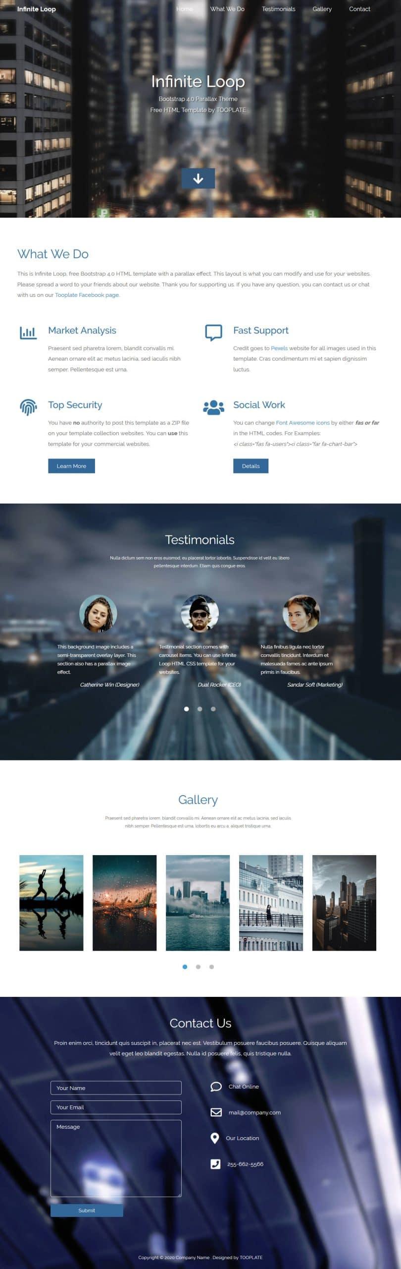 Infinite Loop - business website HTML Template