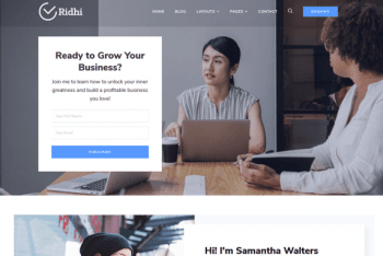 Ridhi – Mutli Purpose WordPress Theme