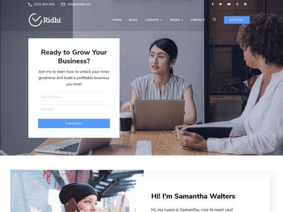 Ridhi - mutli-purpose WordPress theme