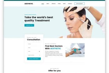 Aesthetic – Free Cosmetic Surgery Website HTML Template