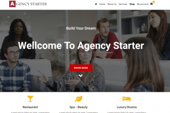 Agency Starter – A Free Customizable WordPress Theme