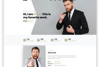 Clyde – One Page Portfolio Website Template