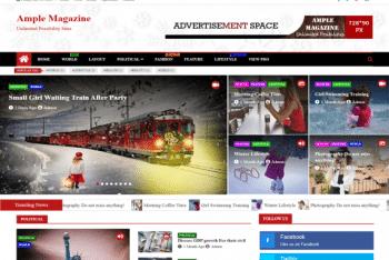 Ample Magazine – A Complete Magazine WordPress Theme for Free