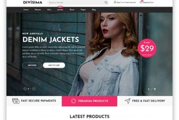 Divisima – Clothing Website HTML Template