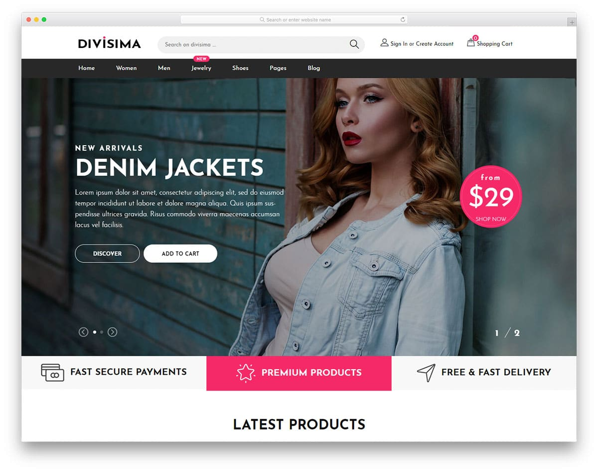 Divisima - clothing website HTML template
