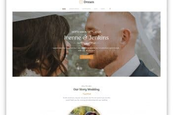 DreamWed – A Free Wedding Website Template