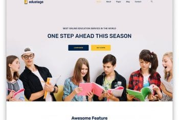 Edustage – Educational Website HTML Template