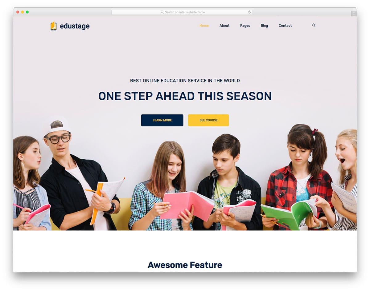 Edustage - educational website HTML template