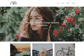 Elfie – WordPress Blog Theme for Free