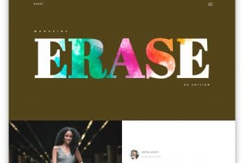 Erase – Free Fashion Magazine Website HTML Template