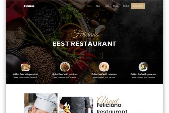 Feliciano – Restaurant Website HTML Template