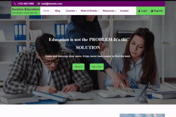 Surplus Education – An Education Website WordPress Theme for Free