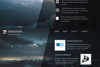 Diagoona – Free HTML Template
