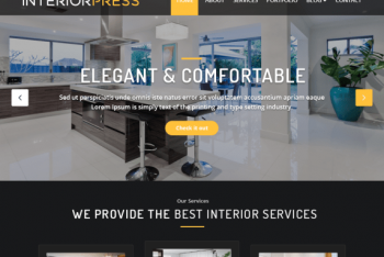 InteriorPress – Business Website WordPress Theme for Free