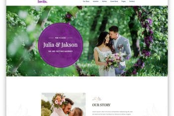 Invits – A Free Matrimonial Website Template