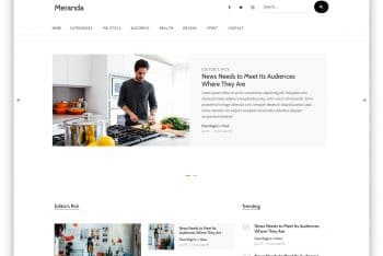 Meranda – A Free Magazine Website HTML Template