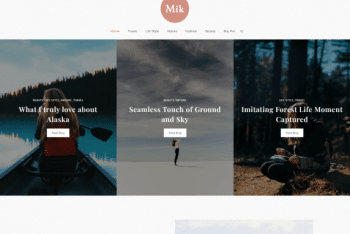 Mik – Free Responsive WordPress Blog Theme