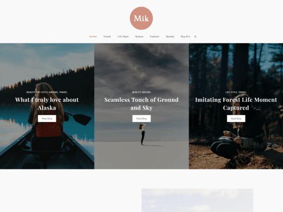 Mik - free responsive WordPress blog theme