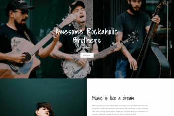 Rockaholic – Free Music Related WordPress Theme