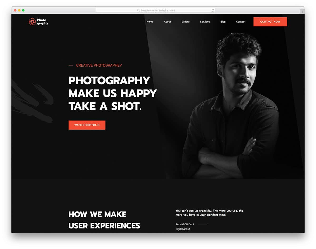 MyPhotography - free HTML template
