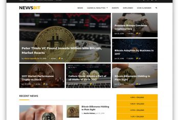 Newsbit – Cryptocurrency Blog Website Template