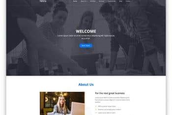 Nitro – Free One Page Business Website Template