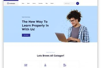 OnlineEdu – Education Website HTML Template