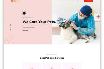 PetCare – Free Pet Clinic Website HTML Template