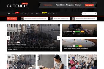 Gutenbiz Mag – A Fully Responsive WordPress Theme for Free