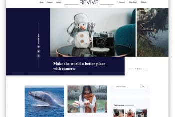 Revive – Photoblog Website HTML Template