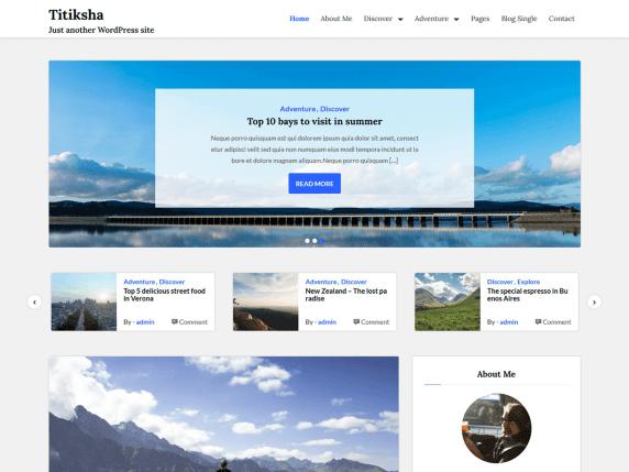 Titiksha - simple WordPress blog theme