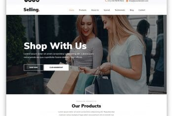 Selling – HTML5 eCommerce Website Template