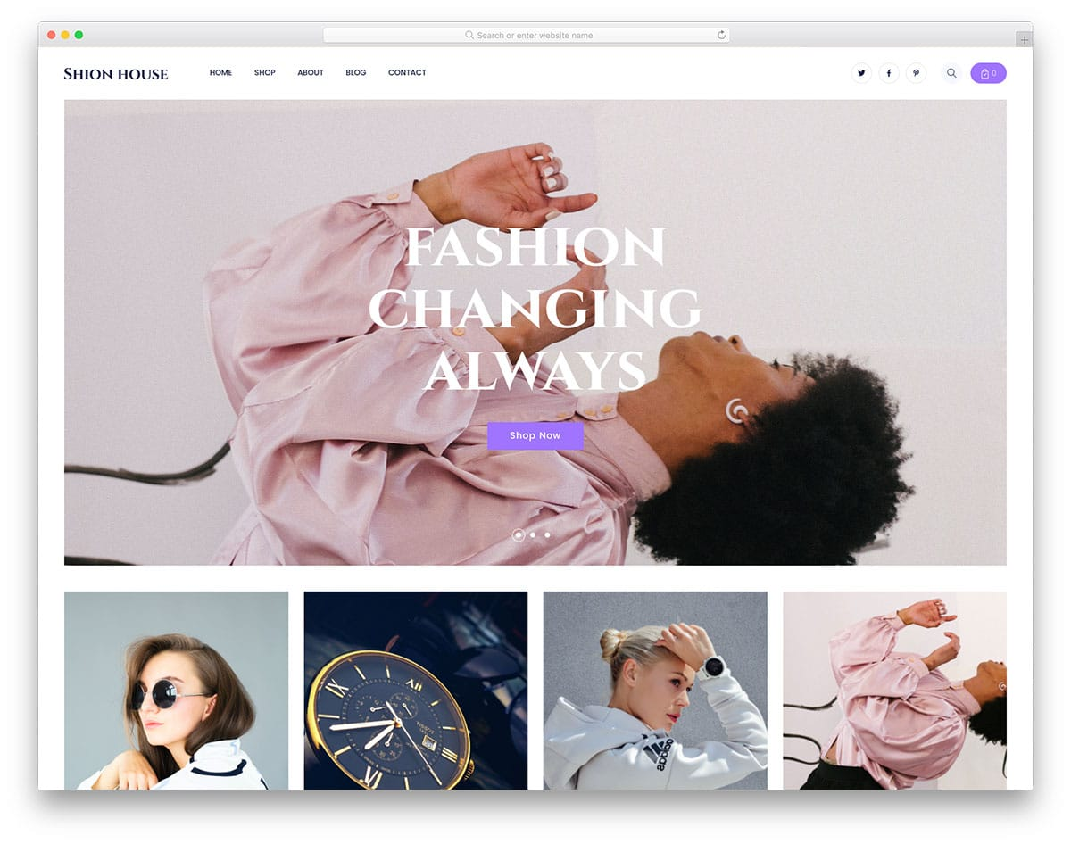 Shionhouse - clothing store website template