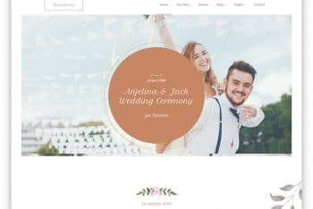 Sunshine – Free Marriage Website Template