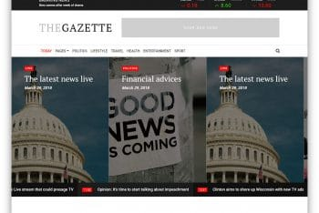 TheGazette – Responsive Magazine Website Template