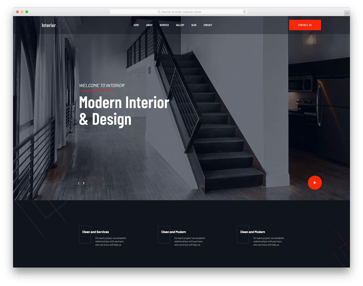 TheInterior - free home decor website template