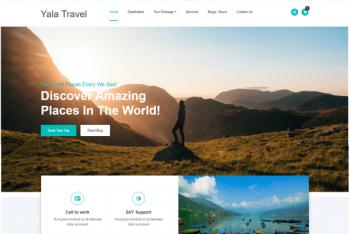 Yala Travel – A Free Travel Website WordPress Theme