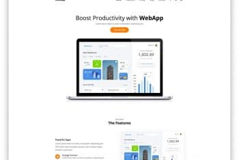 WebApp – Free Web App Website HTML Template