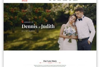 Wed – A Creative & Free Wedding Website HTML Template