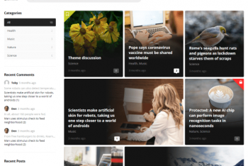 Zentile – Free Magazine Website WordPress Theme