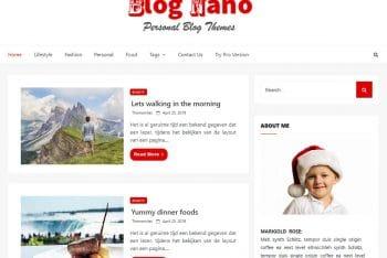 Blog Nano – Personal Blog WordPress Theme