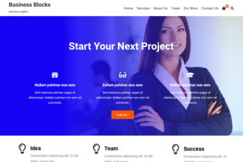 Business Blocks – Business Website WordPress Theme