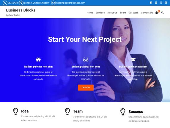 Business Blocks - business website WordPress theme