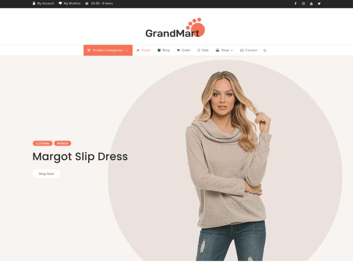 GrandMart - eCommerce website WordPress theme