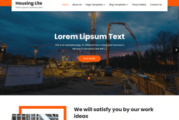 Housing Lite –  Free Architect WordPress Theme